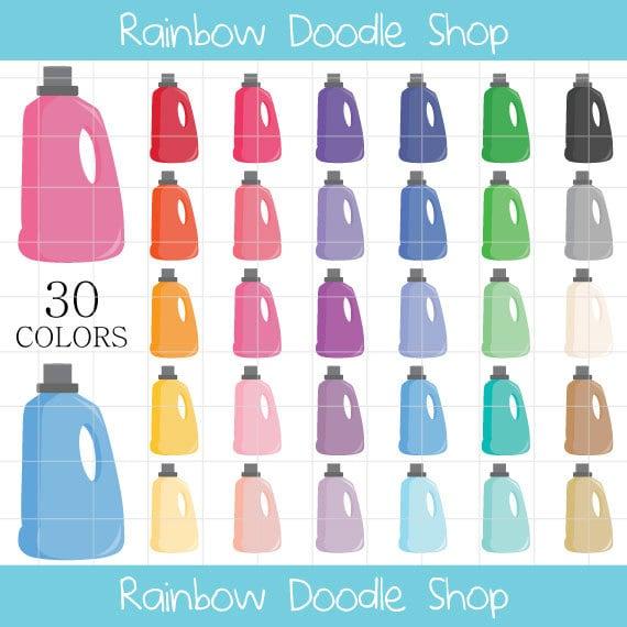 Wäsche Waschmittel Clipart Wäsche Clipart Wäsche-Clip-Art | Etsy