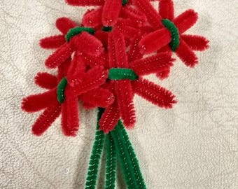 1940s Make do and Mend Floral Brooch