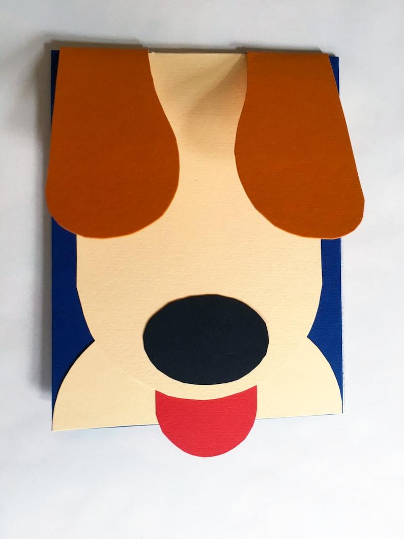 Interactive Pop Up 3D Puppy Birthday Card Get Well Soon