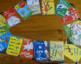 Dr Seuss Book Bunting, style 1.