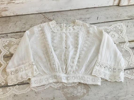 Vintage Loves by Free People White Lace Blouse