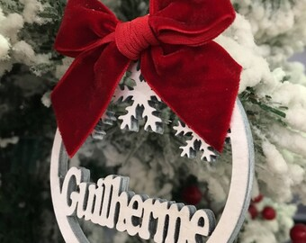 Personalized Wood Christmas Decoration, Wooden Christmas Decoration