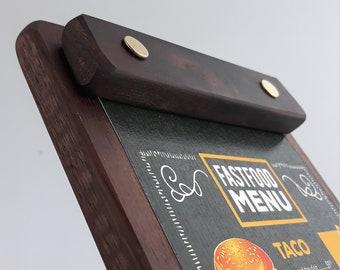walnut wood Menu board