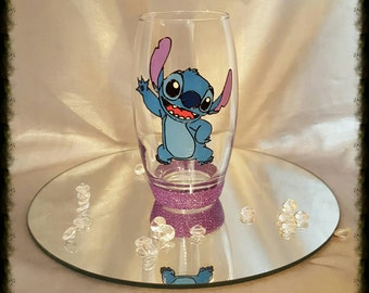 Hand painted stitch tumbler