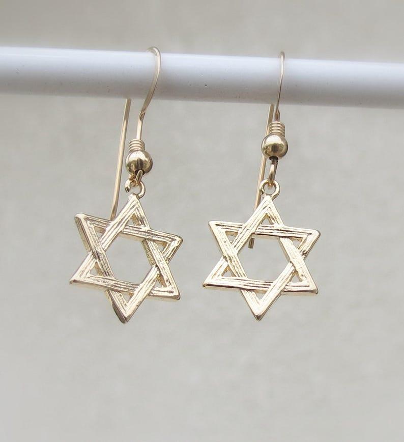 bb4701c98 Star of David earrings Jewish Earrings Judaica Jewelry Gold | Etsy