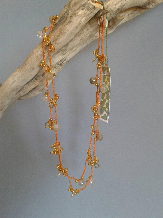 Collana Alluncinetto Con Perline Colorate Grigi E Oro Su Etsy