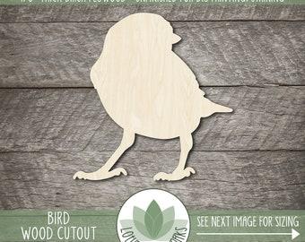 Unfinished Wood Blanks DYI Craft Embellishment Laser Cut Wooden Animal Shapes Bird Wood Cutout