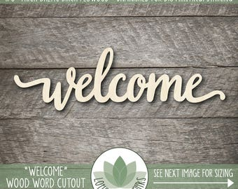 Wooden Welcome Sign Etsy
