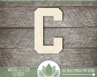 Cut out wood numbers etsy wood letter or number cut out athletic block unfinished wood letters diy craft supply many size options all letters numbers available spiritdancerdesigns Gallery