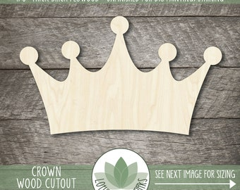 Wood Crown Shape, Wooden Prince Crown Cutout, Blank Wood Shapes, Crown Party Decor