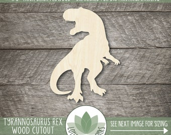 T Rex Wood Cutout, Dinosaur Wood Shape, Tyrannosaurus Rex Wooden Shape, Dinosaur Party Supplies