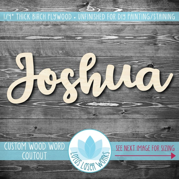 Personalized Plaques Wooden Letters Room Decor 12 to 35 Inches Baby Room Gifts Lara Laser Works Custom Name Sign 18 Colors /& 4 Fonts Personalized Name Signs for Wall Decor Nursery Decor