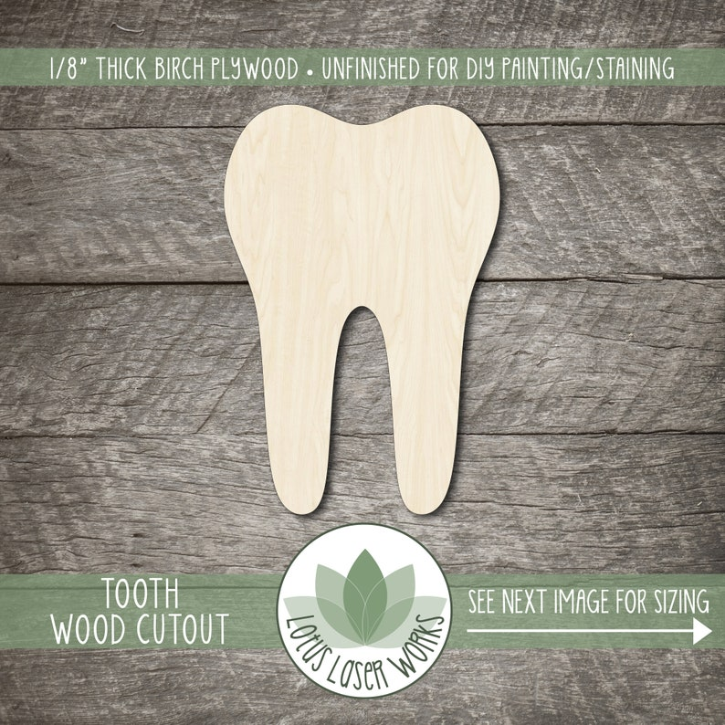 Laser Cut Wooden Shapes DIY Craft Embellishment Unfinished Wood Blanks Tooth Wood Cutout
