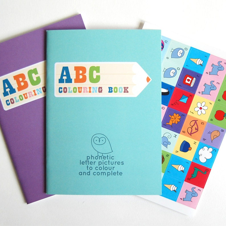 Birthday Gift Party Bag ABC Colouring Book for Boys & Girls image 0