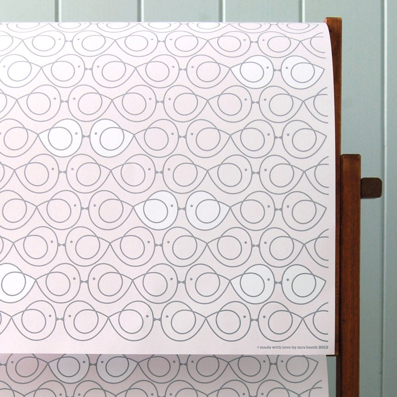 Two Sheets Wrapping Paper  Lovey Dovey Lovebirds image 0