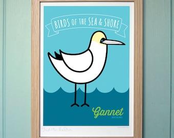 A4 Digital Print Girl Gift, Boy Gift - Gannet