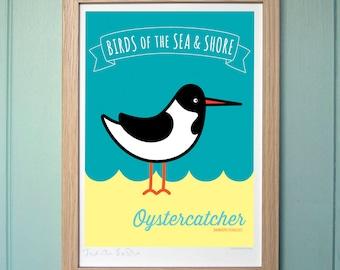 A4 Digital Print for Kids - Oystercatcher