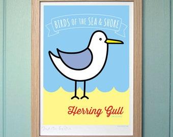 A4 Digital Print for Kids - Herring Gull