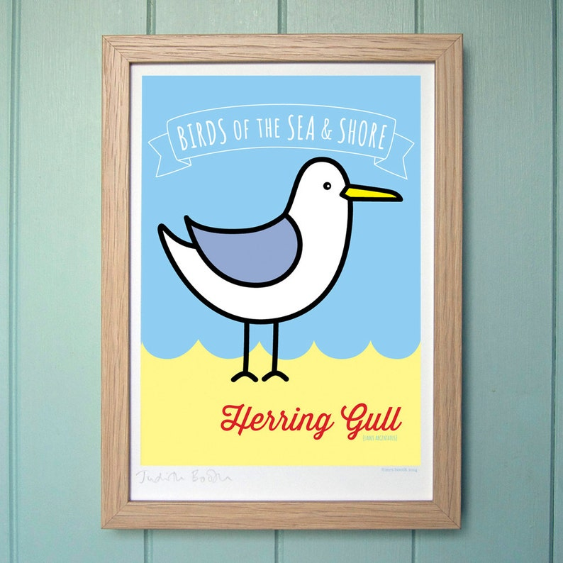 A4 Digital Print for Kids  Herring Gull image 0