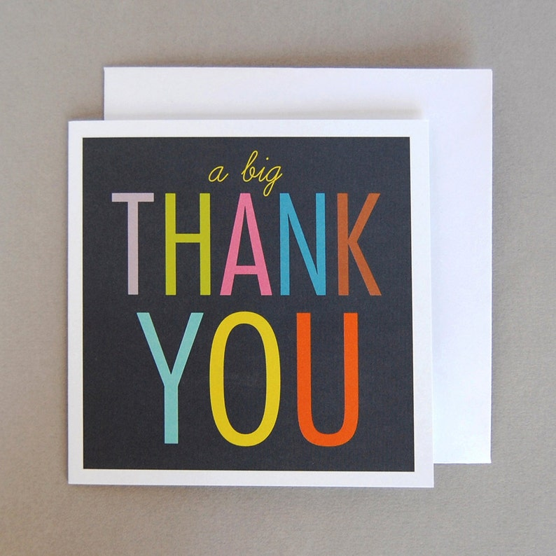 Thank You Cards  Pack of Six image 0