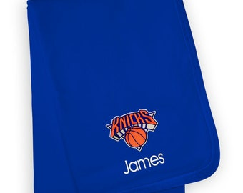 58a7162192d Personalized New York Knicks Baby Blanket Royal
