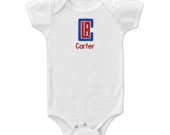 bodysuit Clippers fan customized personalized NAME NUMBER los angeles la baby