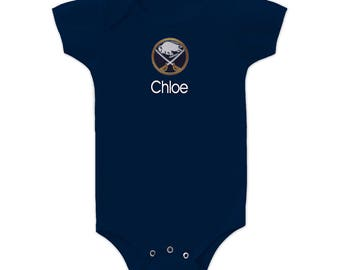 0c4ab0bc7 Personalized Buffalo Sabres Baby Bodysuit