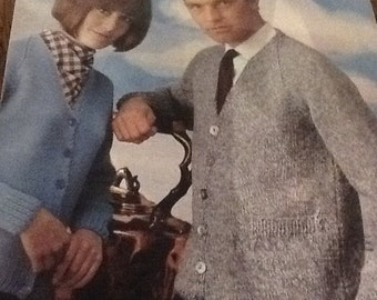 Lee Target vintage  knitting pattern for jacket for man or woman, chest 34-42.