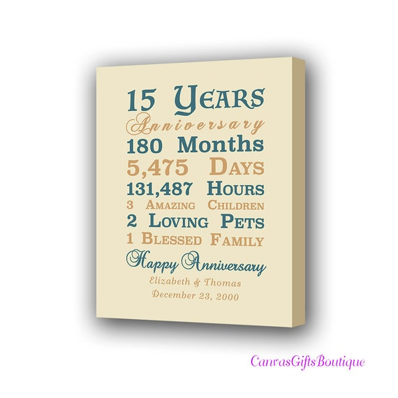 15th Year Anniversary Gift Crystal Wedding Anniversary Etsy