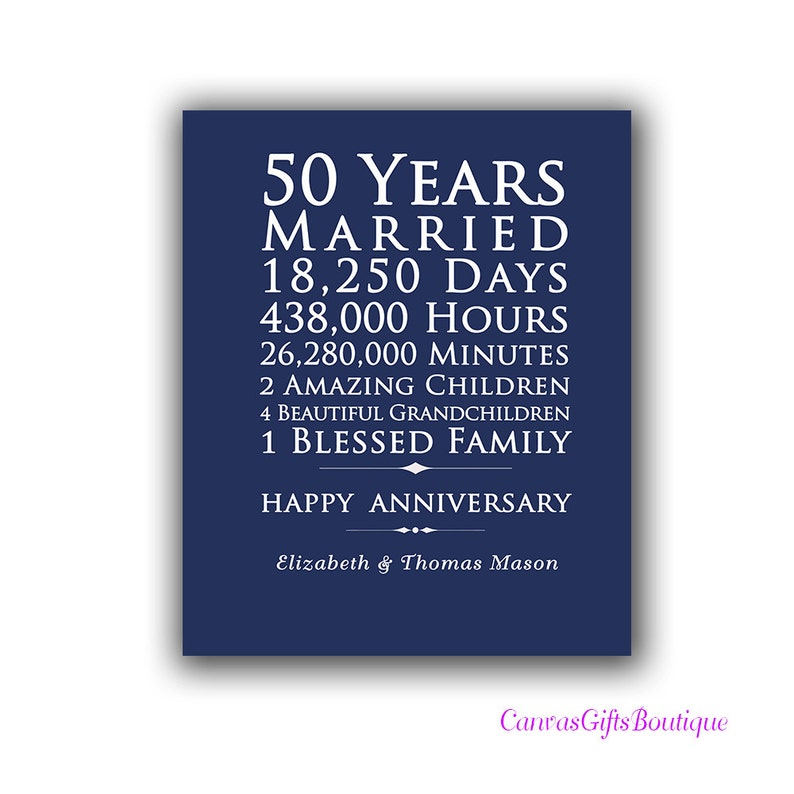 50th Wedding Anniversary Gifts For Parents 50 Years Together Etsy