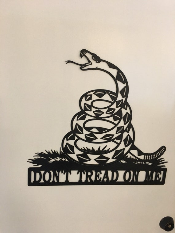 Dont Tread On Me Flag Gadsden Flag Wall Art Mancave Etsy