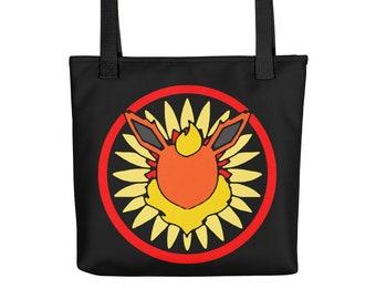 Eeveelution Medallion Tote Bag: Flareon