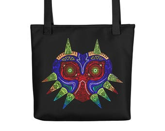 Majora's Mask Mandala Design Tote Bag
