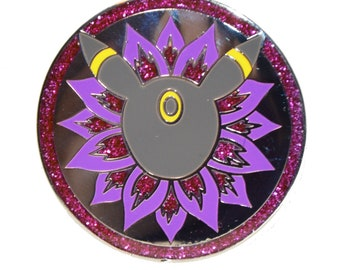 Umbreon Medallion Hard Enamel pin, 1.5in
