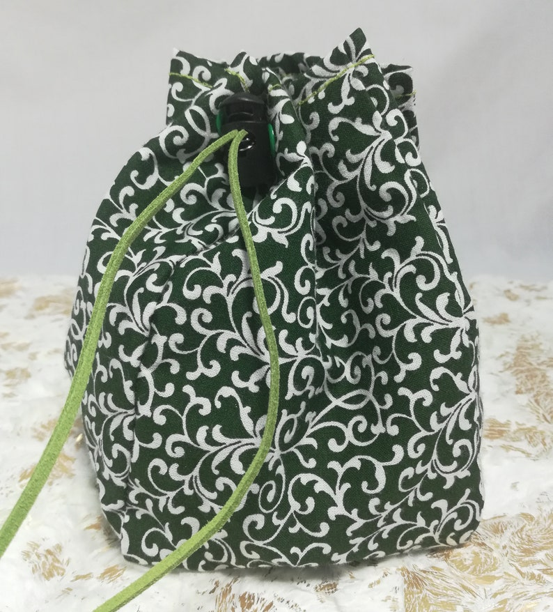 Drawstring Pouch Dice Bag Drawstring Bag Cotton Drawstring Bag Marble Bag Poison Ivy Green Drawstring Bag