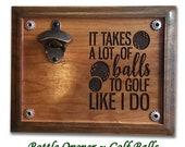 Golf Balls Bottle Opener Bottle Opener Beer Opener Drink Opener Magnetic Bottle Opener Wall Mounted Beer Opener Adult Humor