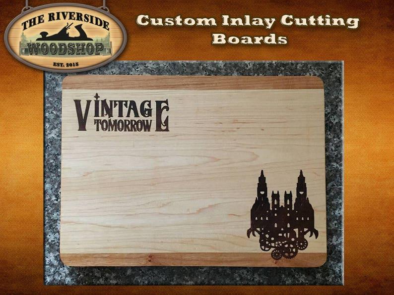 Steampunk theme cheese board chopping board