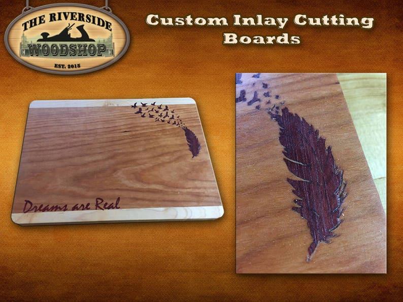 Birds of a Feather Wood Cutting Board ~ Dreams ~ Custom Chopping Board ~ Handmade Chopping Block ~ Kitchen Tools ~ Kitchen Decor ~Chef Tools