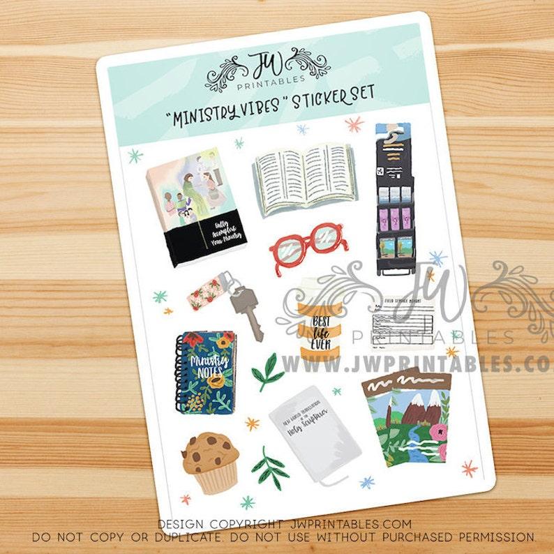 Ministry Vibes JW Stickers   JW Sticker Sheet   Pioneer Gifts - JW Gifts -  Convention Stickers - Jw Sticker sheet - Pioneer School stickers