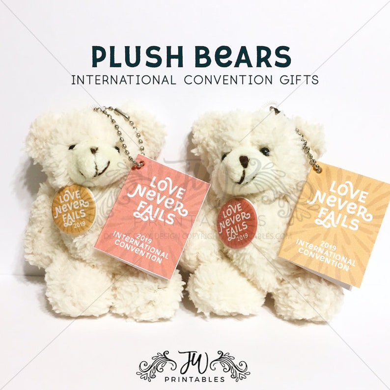 Love Never Fails 2019 Plush Bear Gifts   International Convention 2019, JW  Gifts, JW Printables, Jw Toys, Convention Gifts JW