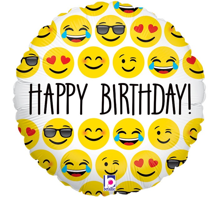 Happy Birthday Emoji Balloon Emoticon Balloons HAPPY