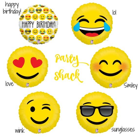Emoji Balloons Emoticon Happy Birthday Love