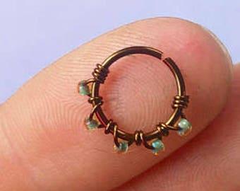 Flower Septum Ring Etsy