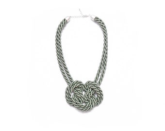 Minty Green Double Knot Necklace