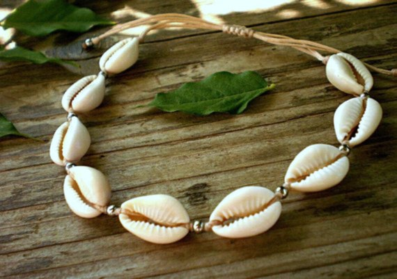 shell anklet, cowrie shell ankle bracelet with seashells, boho beach  jewelry, puka shell beaded anklet adjustable, bohemian gifts for her