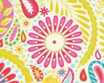 "Dena Designs     Free Spirit  Kumari Garden ""Sanjay""-Pink  Cotton Fabric"