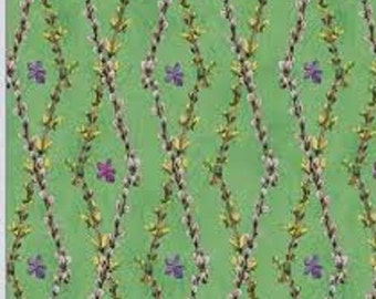 """Wilmington Prints  by Wendy Edelson  """"So Many Bunnies""""  Floral Lattice"""