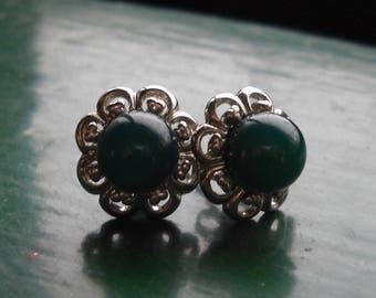 Faux Jade post earrings