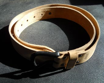 Size 42 tan leather belt