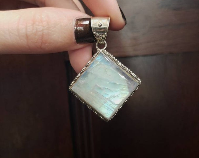 Glowing Moonstone Pendant